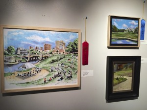 Opening night of Brush Creek Art show/sale