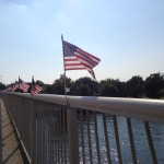 9/11 Flags on 14th Street Bridge over Potomac